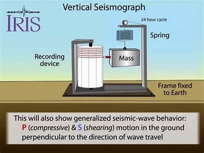 Seismograph Vertical Waves Animation Earthquakes Measuring Seismogram