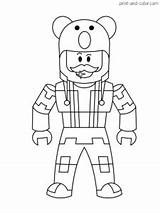 Roblox Coloring Pages Printable Template Cartoon Sketch Credit Colorcom Characters Larger sketch template