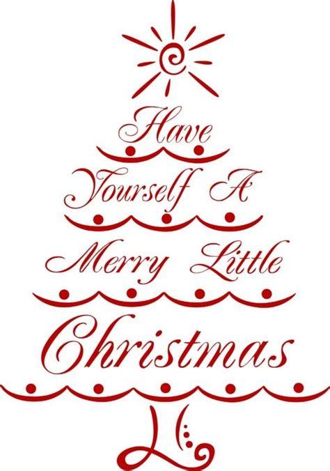 merry christmas tree vinyl wall decal holiday decor