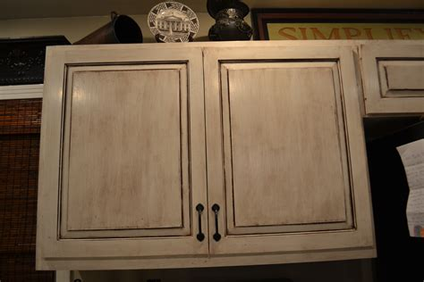 Antique White Cabinets With Brown Glaze Best 2000