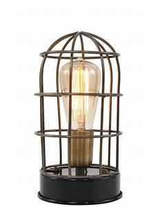 Lampe Style Industriel : lampe poser style industriel light living carandira ~ Teatrodelosmanantiales.com Idées de Décoration