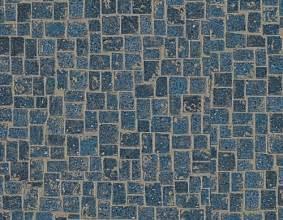 installs karndean 39 s blue michelangelo mosaic vinyl tiles in kitchen retro renovation