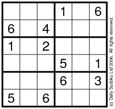 Sudoku 6x6 Easy
