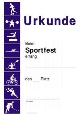 urkunde sportfest sofort