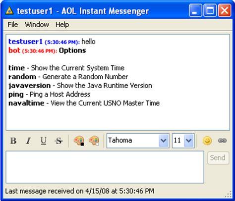 zion software instant messaging bot development tools