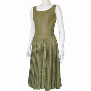Vintage 1960s Shimmering Party Cocktail Dress Gold Lurex ...