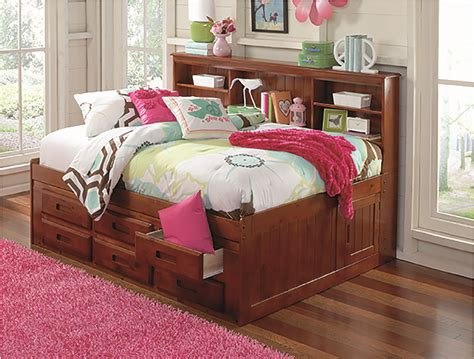 Day Beds With Drawers by Discovery World Furniture Merlot Captain Day Beds