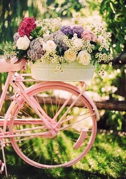 diy ideas  recycle bikes  blooming yard decorations
