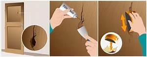 reparer un trou dans une porte porte With reparer porte en bois enfoncee