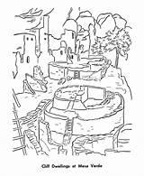Mesa Verde Coloring Pages Park Cliff Places Printables National Historic Pueblo Dwellings Sheets Patriotic Indians Printable Usa Monuments Raisingourkids Parks sketch template