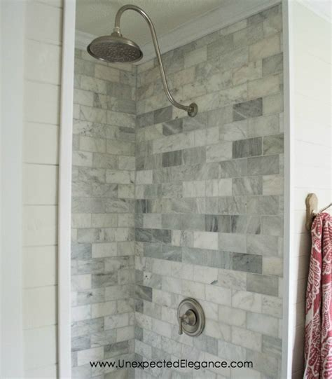 tile ideas for bathroom walls inexpensive tricks to give your tiled shower a custom look
