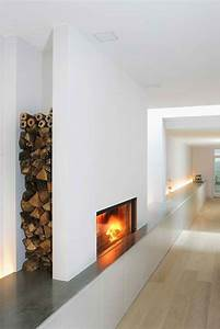25 cool firewood storage designs for modern homes for Awesome modern storage units