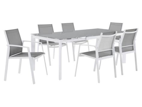ensemble table chaise jardin collection de jardin palaos table extensible 6 chaises