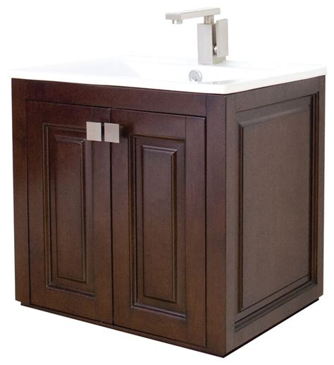 18 Bathroom Vanity Base by 24 In W X 18 In D Transitional Wall Mount Birch Vanity