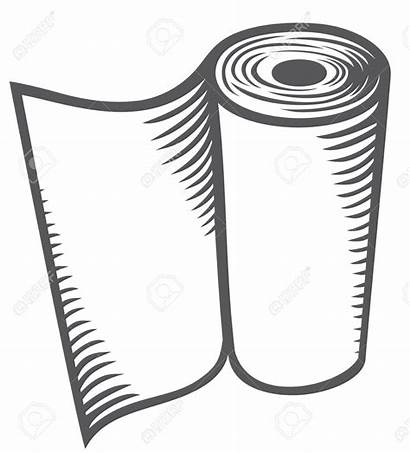 Towel Paper Kitchen Clipart Drawing Roll Towels