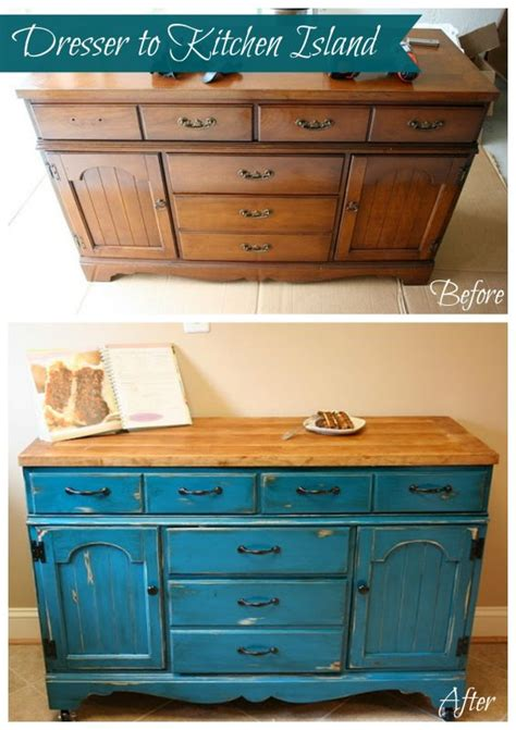 dresser kitchen island how to make a kitchen island out of a dresser