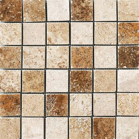 mosaic floor tile marazzi montagna blended 12 in x 12 in x 8 mm porcelain