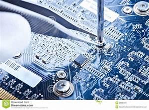 Notebook Repair Printed Circuit Board Royalty Free Stock Photos