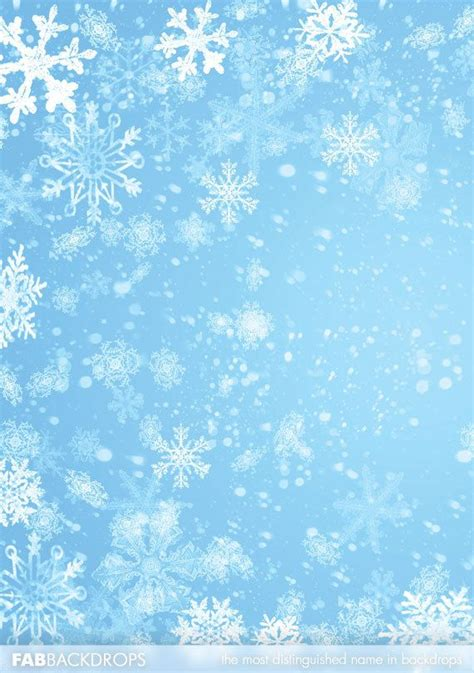 Winter Winter Background Snowflake by Fab Vinyl Winter Snowflake Backdrop Background