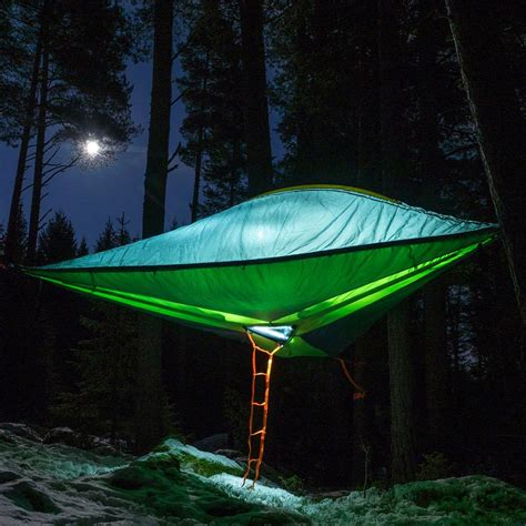 Hammock In The Trees by New Models Of Suspended Tents That Let You Sleep Among The