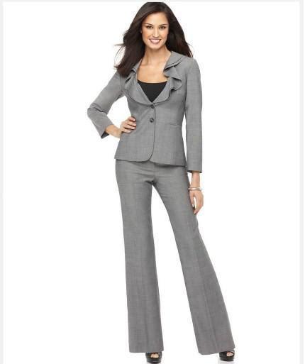 2021 Hot Sell Designer Suit Long Sleeve Ruffle Collar ...
