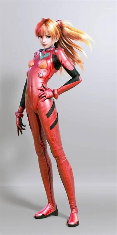 Asuka Langley Evangelion Soryu Genesis Neon Render