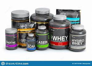 Sports Nutrition Supplements For Bodybuilding  Whey Protein C Stock Illustration
