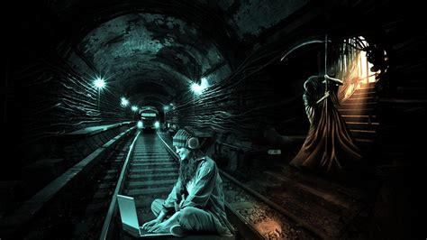 artwork digital art grim reapers metro  wallpaper