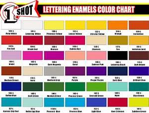 one shot paint color chart lettering enamelgif 685x520 With one shot lettering paint