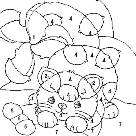 coloriage magique chat en ligne gratuit  imprimer