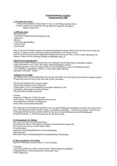 examensberichte fachschaft
