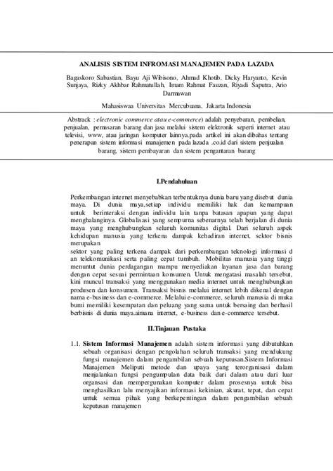 Artikel sistem informasi pada Lazada, Imam Rahmat Fauzan
