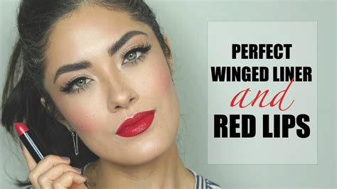 perfect winged liner red lips urban decay  gwen stefani melissa alatorre youtube