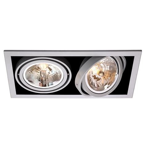 spot encastrable cuisine led spots downlight encastrable rectangulaire de 2 à 4 projecteurs orientables tbt