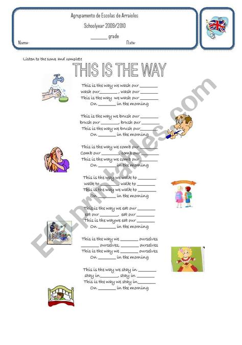 the way worksheet song this is the way esl worksheet by spikeremover