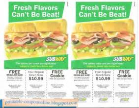 Subway Coupons Printable 2017