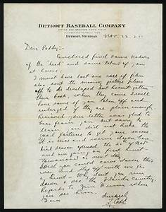 1925 ty cobb handwritten and signed letter psa dna ebay for Ty cobb letter