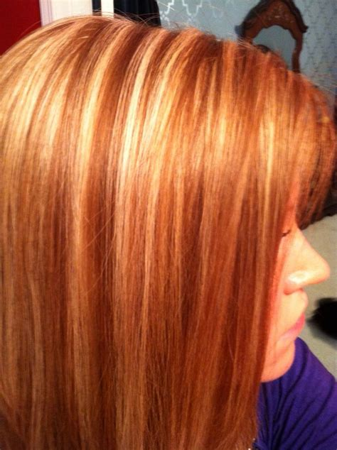 natural red hair  blonde highlights   learned