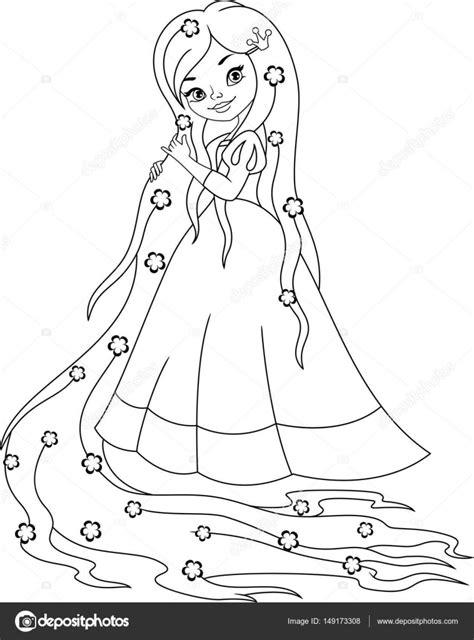 Kleurplaat Rapunzol by Prinses Rapunzel Kleurplaat Stockvector 169 Malyaka 149173308