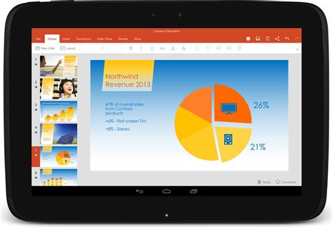 microsoft powerpoint for android microsoft androidタブレット向けオフィスアプリの正式版 office for tablet を