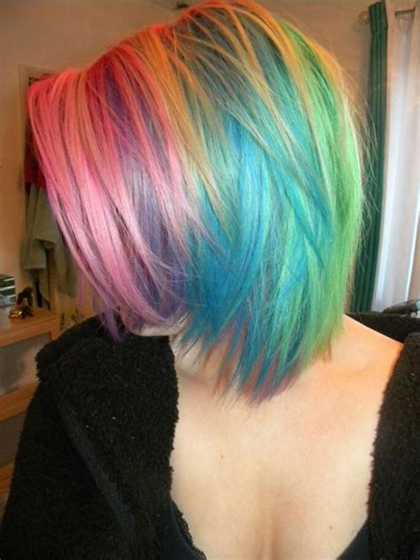 rainbow hair  crazy rainbow hair color inspirations