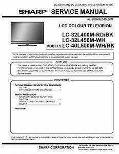 Sharp Lc 32l450m Service Manual Download  Schematics