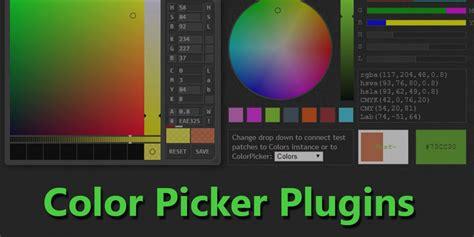 javascript color picker plugins onaircode