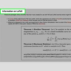 How To Use Latex For Text Formatting 6 Steps (with Pictures