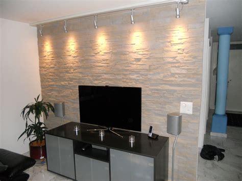 Wohnzimmer Design Wandgestaltung by Wandverkleidung Steinoptik Mit Beleuchtung Lascas