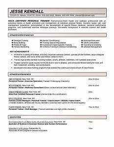 fitness and personal trainer resume example With fitness resume template