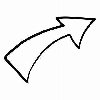 Arrow Curved Doodle Clipart Transparent Stroke Svg