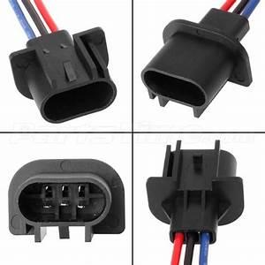 2 Pcs 9008 H13 Headlamp Wiring Adapter Socket