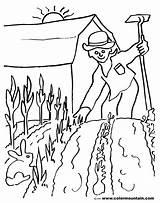 Coloring Planting Gardener Farmer Seeds Spring Jobs Jardinero Garden Colorear Printable Ocupaciones Template sketch template