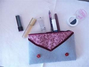 Grey Felt Cosmetic bag Grey Felt Zipper pouch, Grey Felt ...